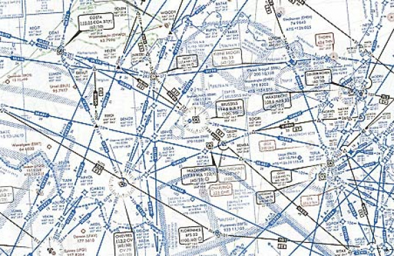 Upper airspace chart
